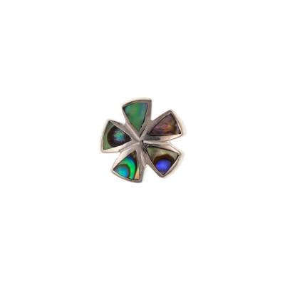 Silver Coloured Shell Bracelet Bead 2.4gms