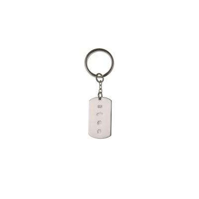 Silver Feature Hallmark Key Ring