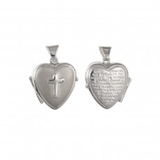 Silver Heart Locket With '' Serenity Prayer''