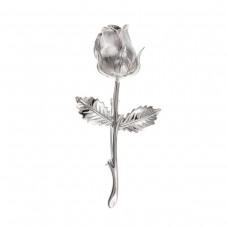 Silver Rose Brooch