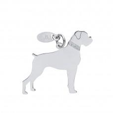 Silver Boxer Dog Pendant