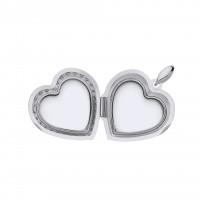 Silver Window Heart Locket
