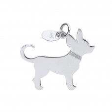 Silver Chihuahua Dog Pendant