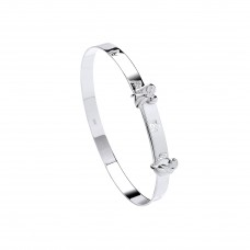 Silver Childs Guardian Angel Expanding Bangle