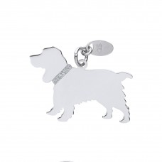 Silver Cocker Spaniel Dog Pendant