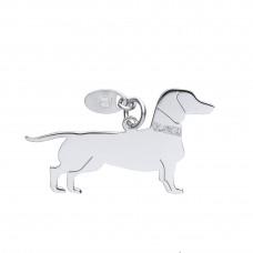 Silver Dachshund Dog Pendant