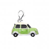 Silver Enamelled Mini Charm Pendant