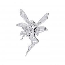 Silver Fairy Brooch