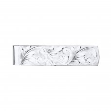Silver Full Engraved Money Clip