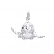 Silver Humpty Dumpty Charm Pendant