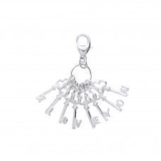 "Silver ""I LOVE YOU"" Keys Charm Pendant"