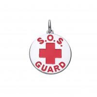 Silver Medical Alert  Disc Pendant