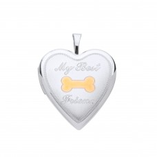 "Silver ""My Best Friend"" Heart Locket"