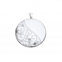 Silver Patterned Round Locket