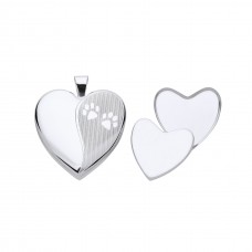 Silver Pet  Memorial  Heart Locket With Casket