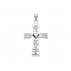 "Silver ""Serenity Prayer"" Cross Pendant"