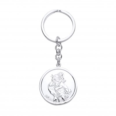 Silver St Christopher Key Ring