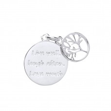 Silver Tree Of Life Message Pendant