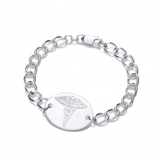 Silver Ladies Curb Medical Alert Bracelet
