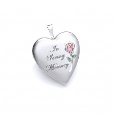 Silver Memorial  Heart Locket With Casket