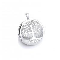 Silver Round Tree Of Life Locket
