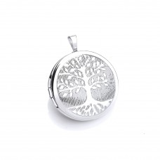 Silver Round Tree Of Life Locket