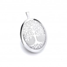 Silver Oval Tree Of Life Locket