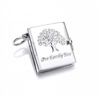 Silver 6 Picture Tree Of Life Book Locket